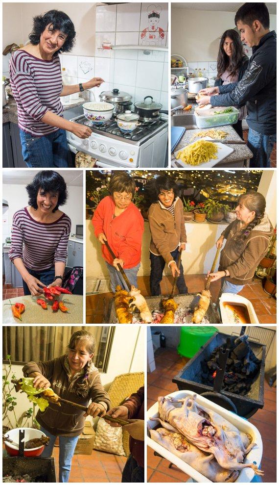 Cooking Cuy Dinner