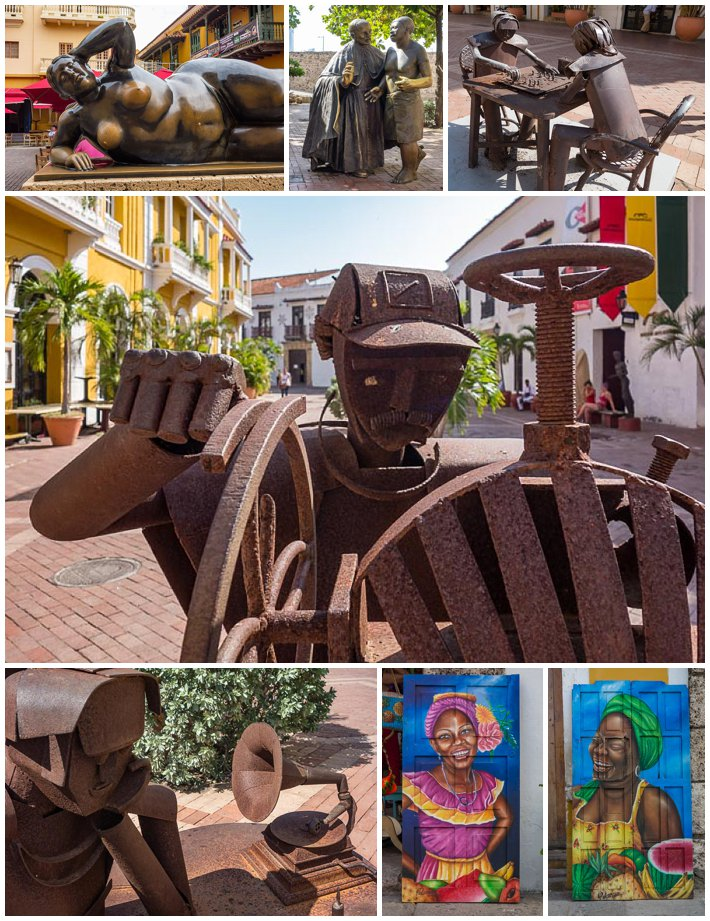 Cartagena Colombia - Art and Sculptures