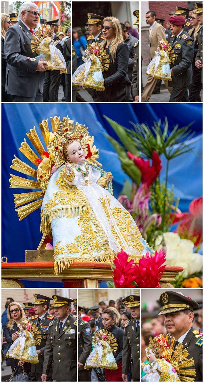 2015 Paseo Del Nińo, Cuenca Ecuador, statue baby jesus