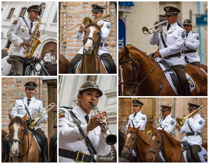 2015 Paseo Del Nińo, Cuenca Ecuador, military band horseback music