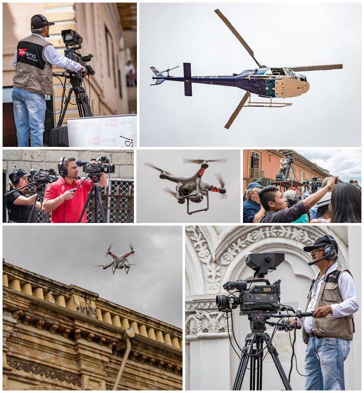 2015 Paseo Del Nińo, Cuenca Ecuador, news reporter helicopter drone