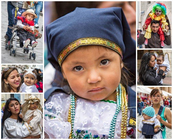 2015 Paseo Del Nińo, Cuenca Ecuador, babies