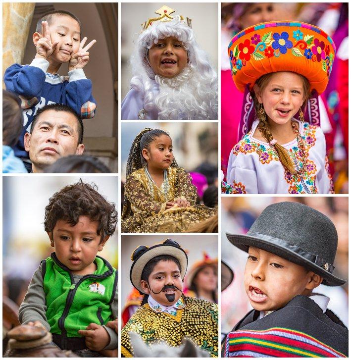 2015 Paseo Del Nińo, Cuenca Ecuador, kids