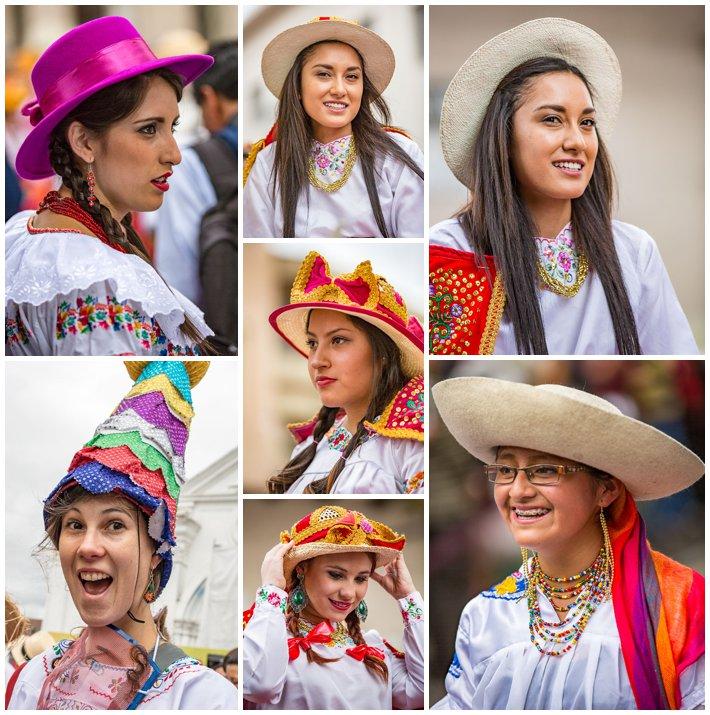 2015 Paseo Del Nińo, Cuenca Ecuador, women