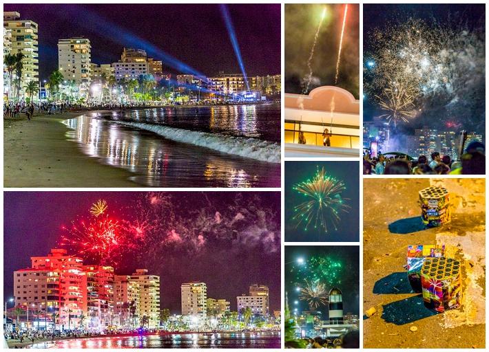 2015 New Year's Eve - Salinas Ecuador - fireworks