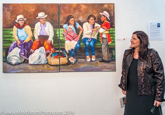Evelyn Johnson Art Show - diptic purchase