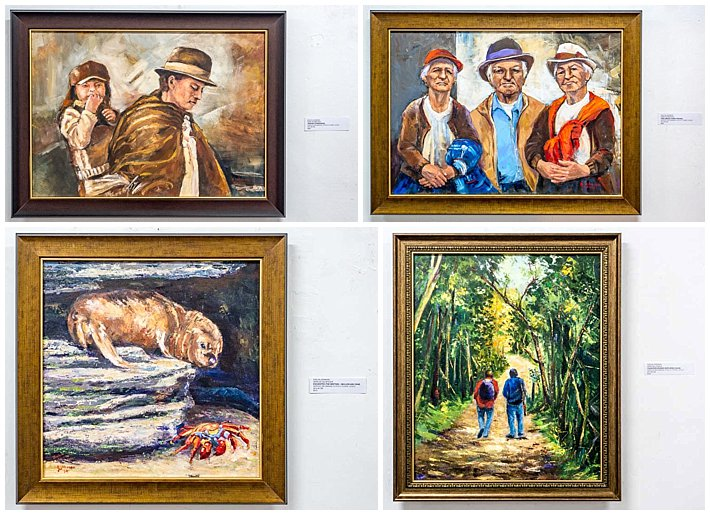 Evelyn Johnson Art Show - paintings