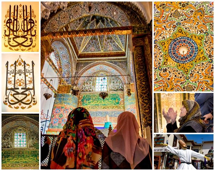 Cappadocia Mausoleum of Mevlana in Konya inside
