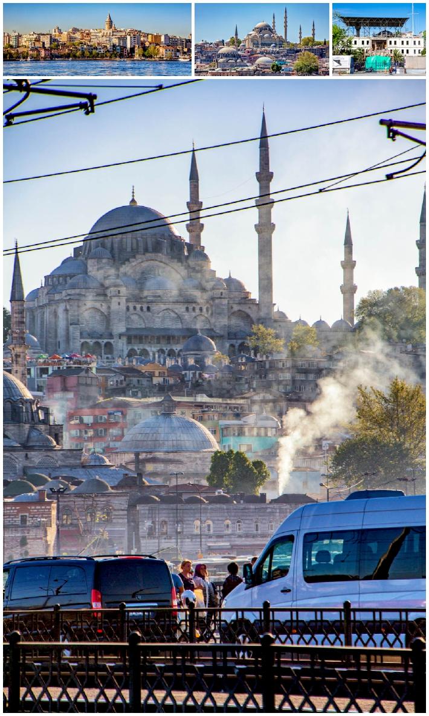 Istanbul skyline pollution