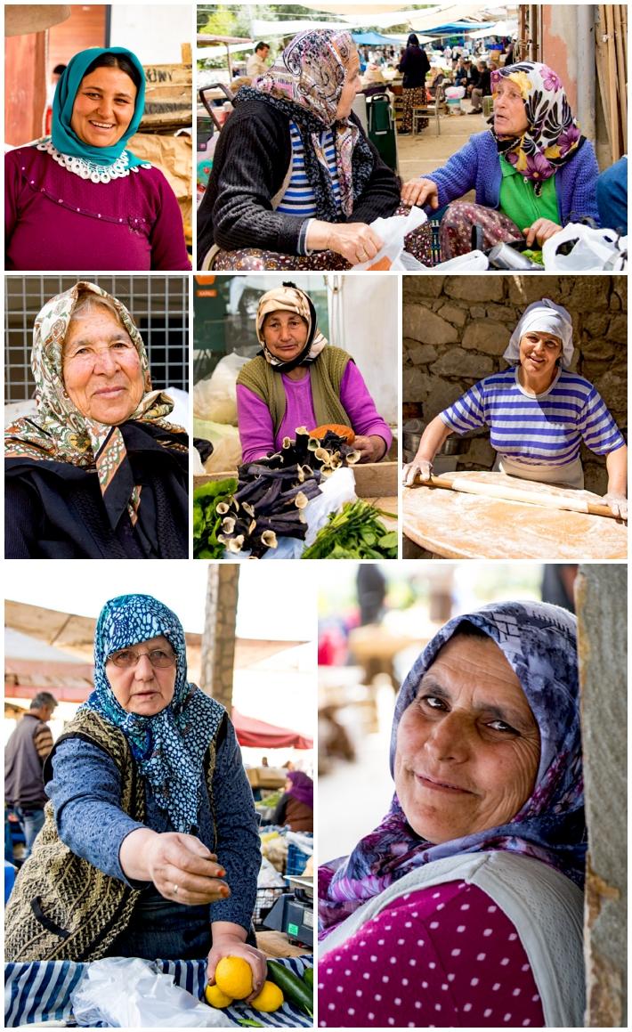 Karacasu market women #2