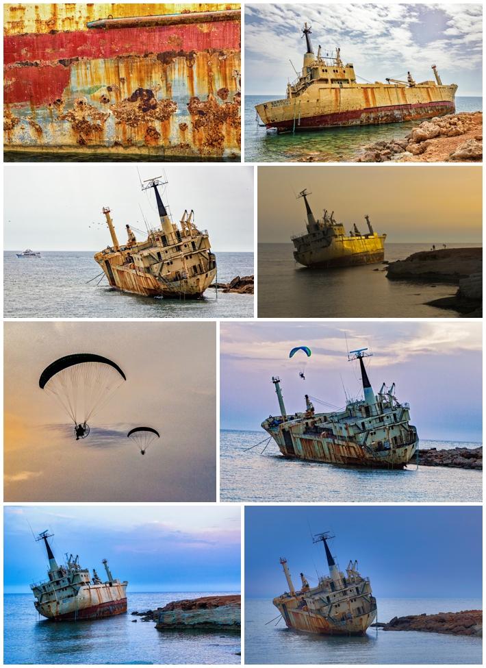 Cyprus sunset shipwreck Edros III