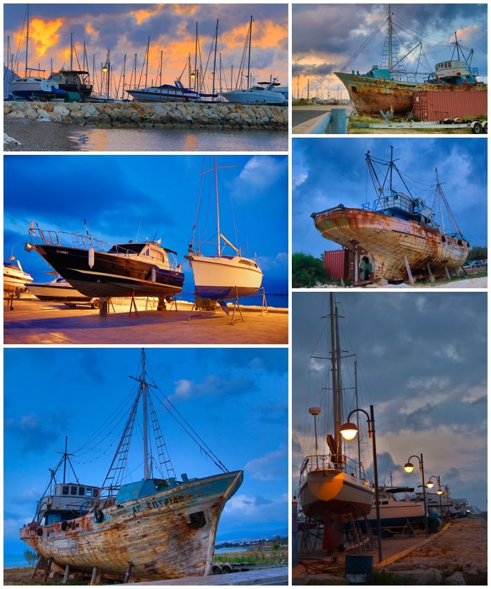 Sunset Latsi Latchi Cyprus Boats Harbor