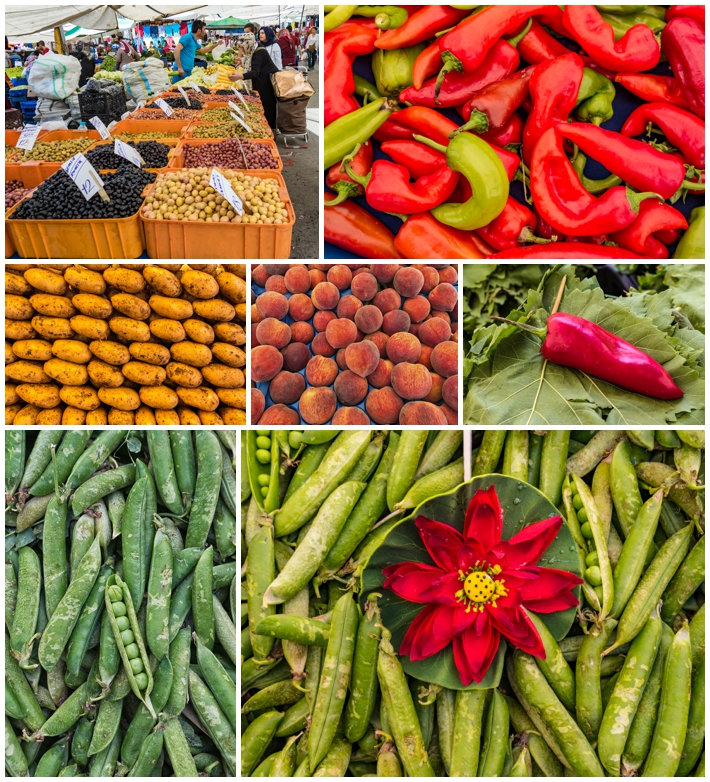 Tarihi Sali Pazari Bazaar Istanbul Turkey food