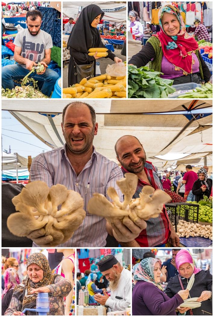 Tarihi Sali Pazari Bazaar Istanbul Turkey vendors people sellers