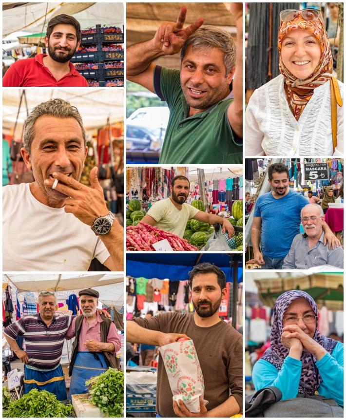 Tarihi Sali Pazari Bazaar Istanbul Turkey people men women
