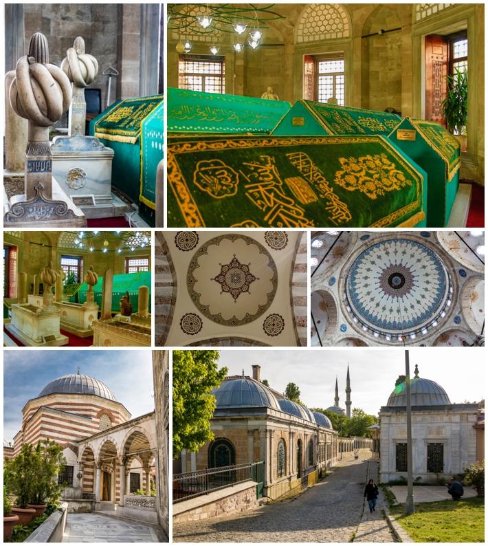 Eyup Istanbul Turkey buildings mosques caskets