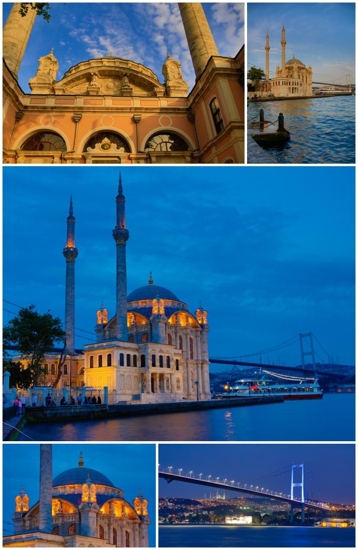 Ortakoy Istanbul Turkey Mosque sunset nightfall night dark