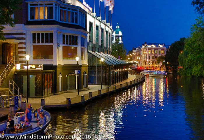 Amsterdam Holland Canal Night Reflections