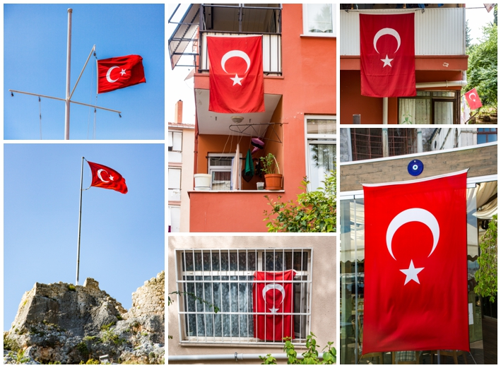 Istanbul Turkey flags