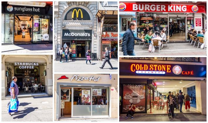Istanbul Turkey American brands fast food