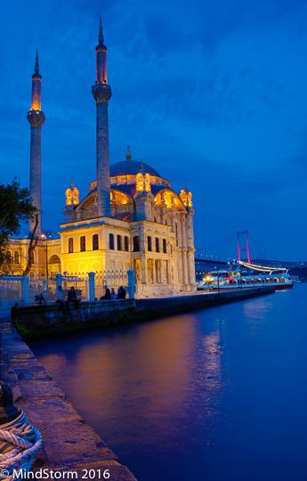 Ortakoy Turkey Istanbul Mosque Camii bridge
