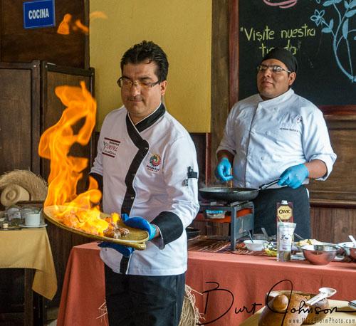 La Yunta Cooking Class Ecuador Flambe
