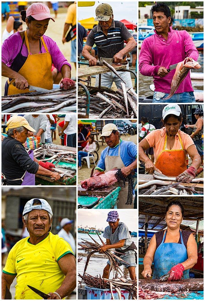 Puerto Lopez Ecuador 2016 fish preparation