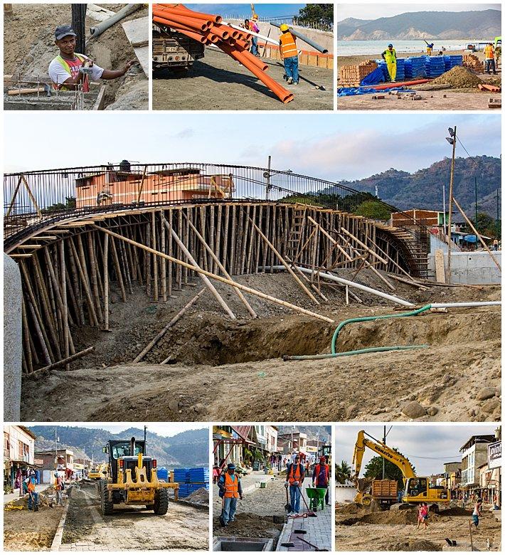Puerto Lopez Ecuador 2016 construction