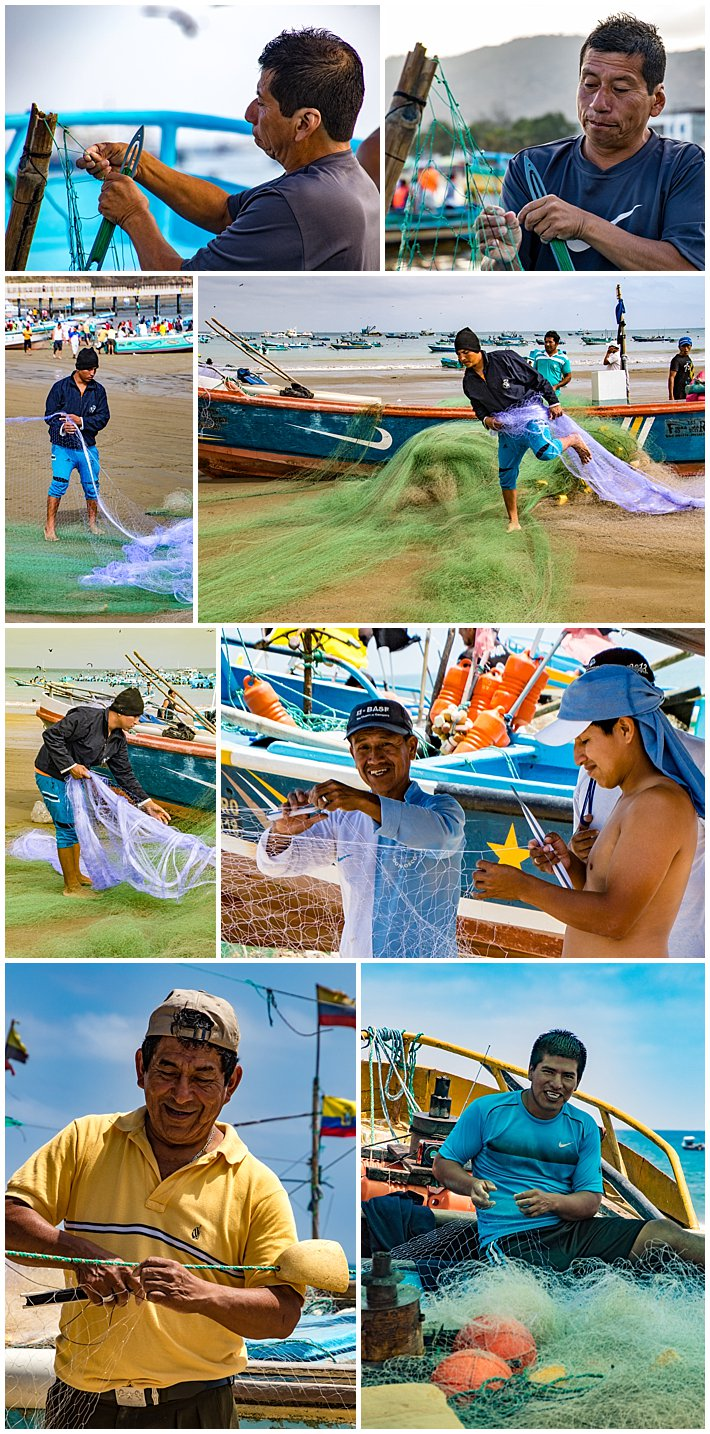 Puerto Lopez Ecuador 2016 fishing nets