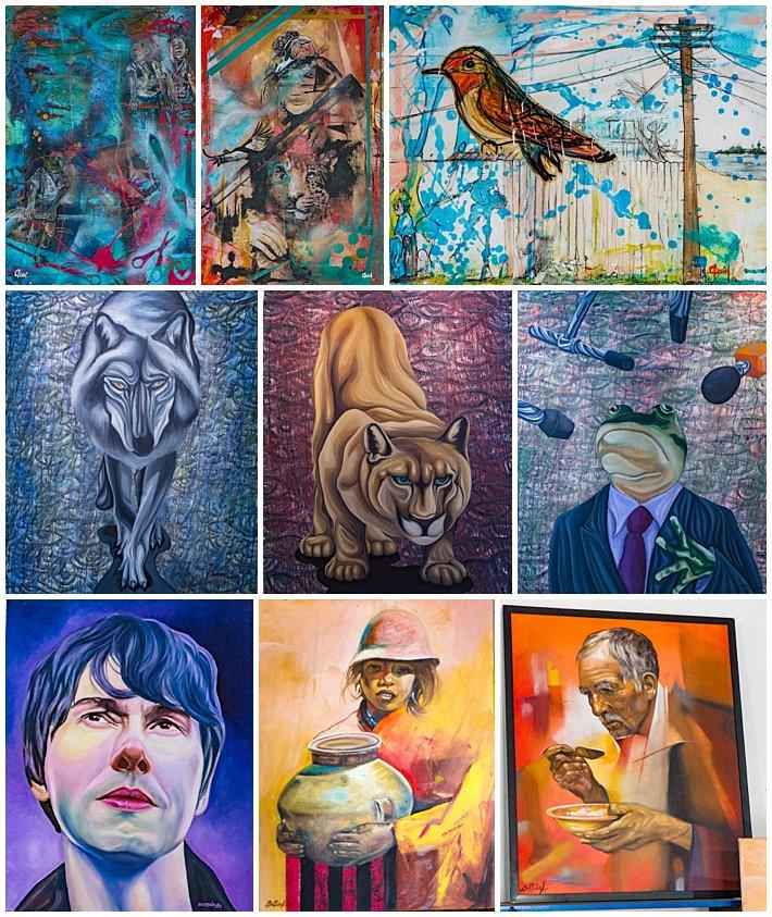 Cuenca Art Walk 2016 - paintings #1