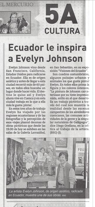 El Mercurio Article on Evelyn Johnson
