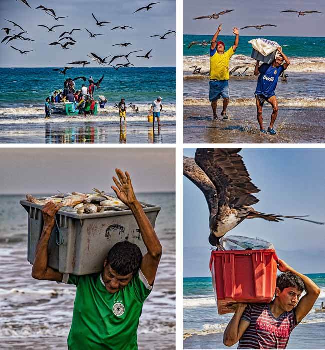 Puerto Lopez Ecuador fish attack fishermen