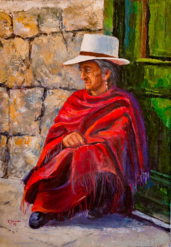 RECORNDANO SU VIDA, Acrílico sobre lienzo, 50 x 70 cm