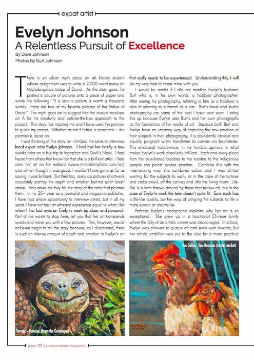 Cuenca Expats Magazine Article on Evelyn Johnson