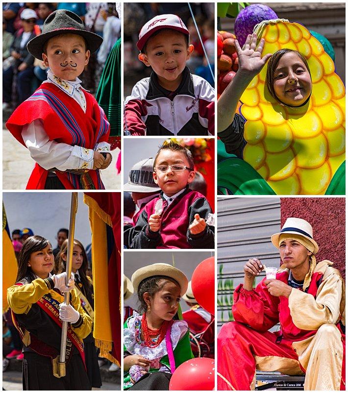 Cuenca Independence Day, Ecuador 2016 - kids parade