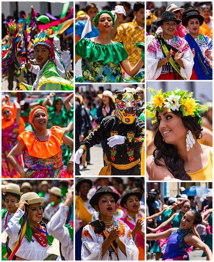 Cuenca Independence Day, Ecuador 2016 - girls in parade