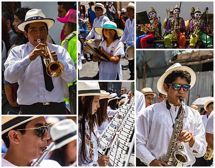 Cuenca Independence Day, Ecuador 2016 - marching band in parade