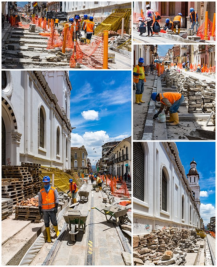 Cuenca Independence Day, Ecuador 2016 - Transvia construction