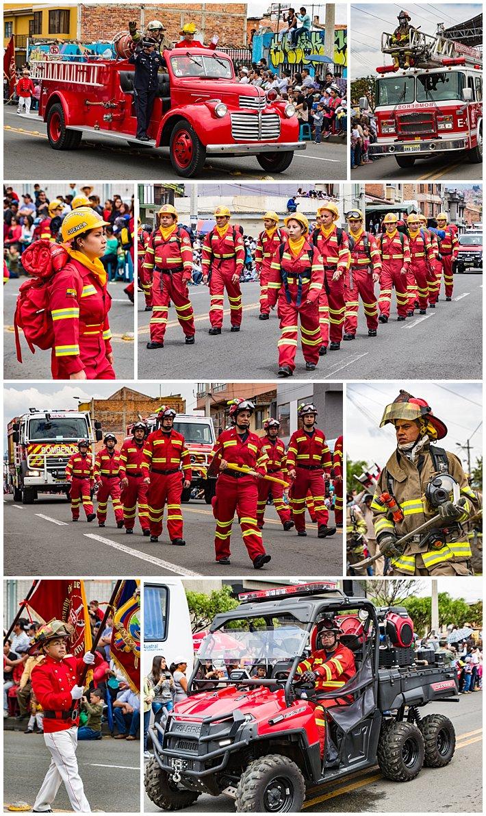 Cuenca Independence Day, Ecuador 2016 - parade of bomberos (firemen)