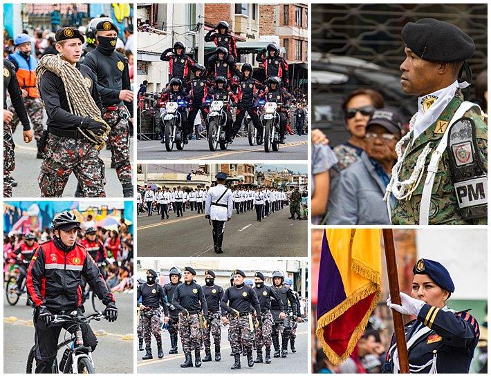 Cuenca Independence Day, Ecuador 2016 - light military parade
