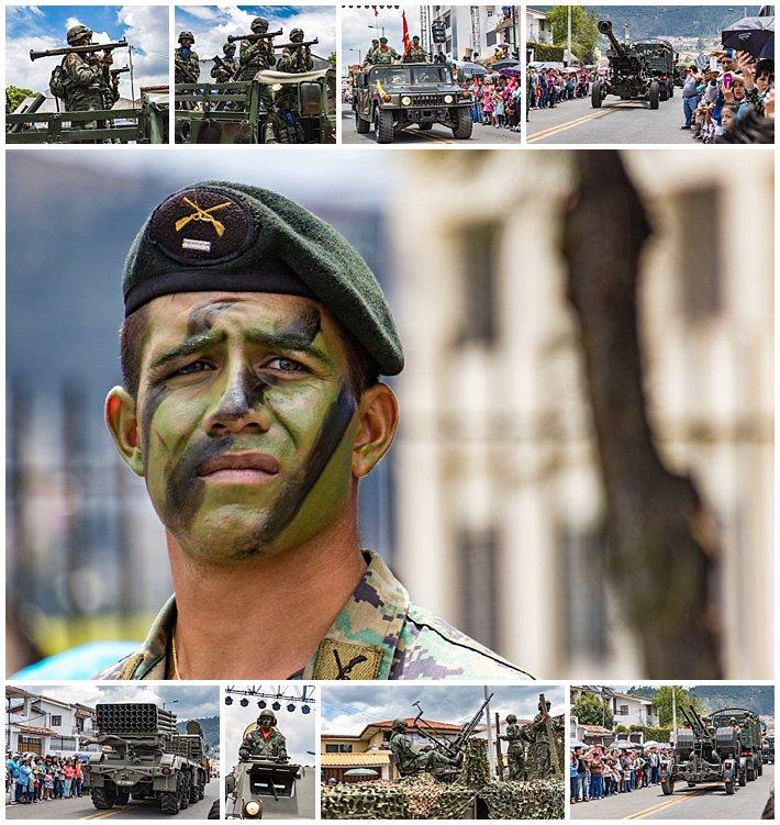 Cuenca Independence Day, Ecuador 2016 - heavy military parade
