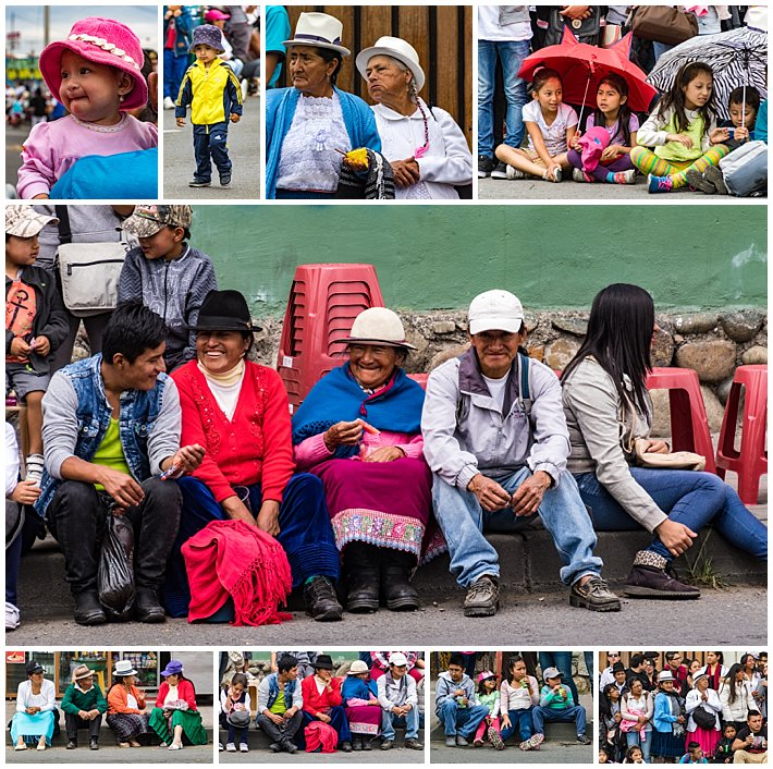 Cuenca Independence Day, Ecuador 2016 - parade audience