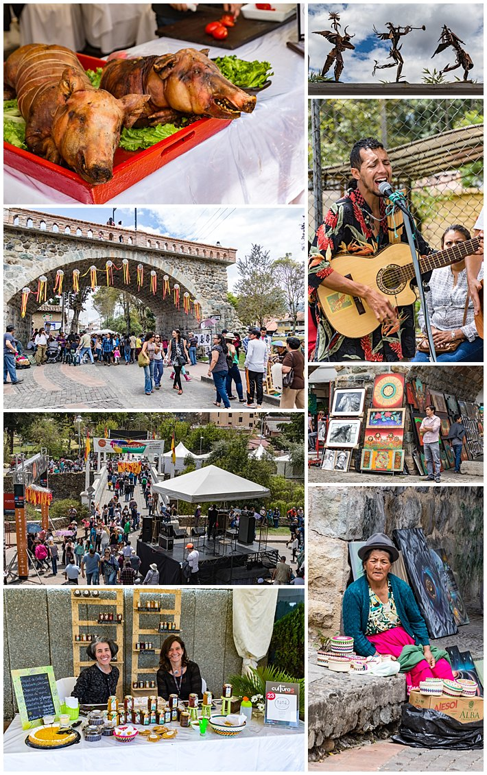 Cuenca Independence Day, Ecuador 2016 - food and art faire