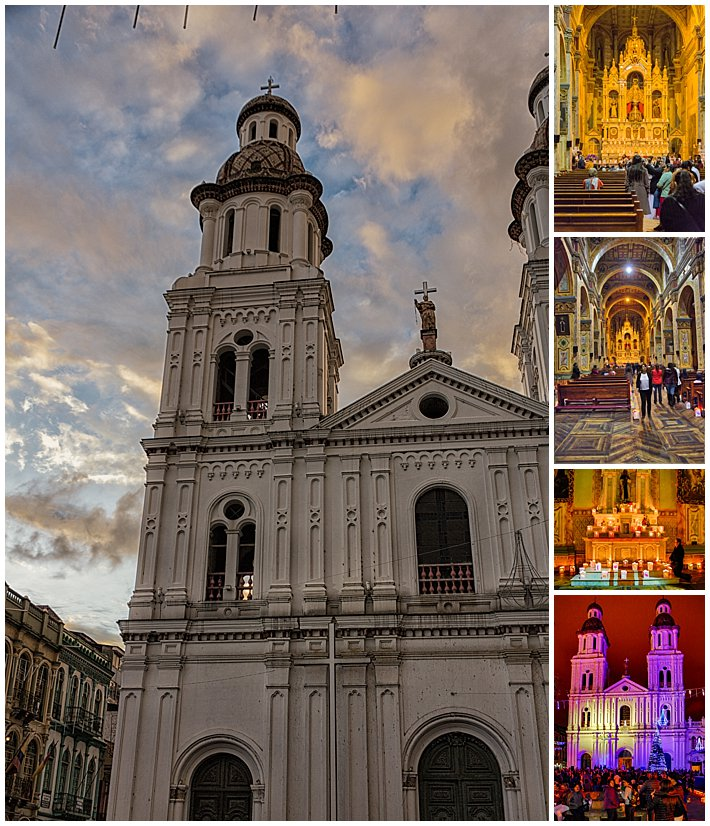 Festival of Lights 2016, Cuenca, Ecuador - church