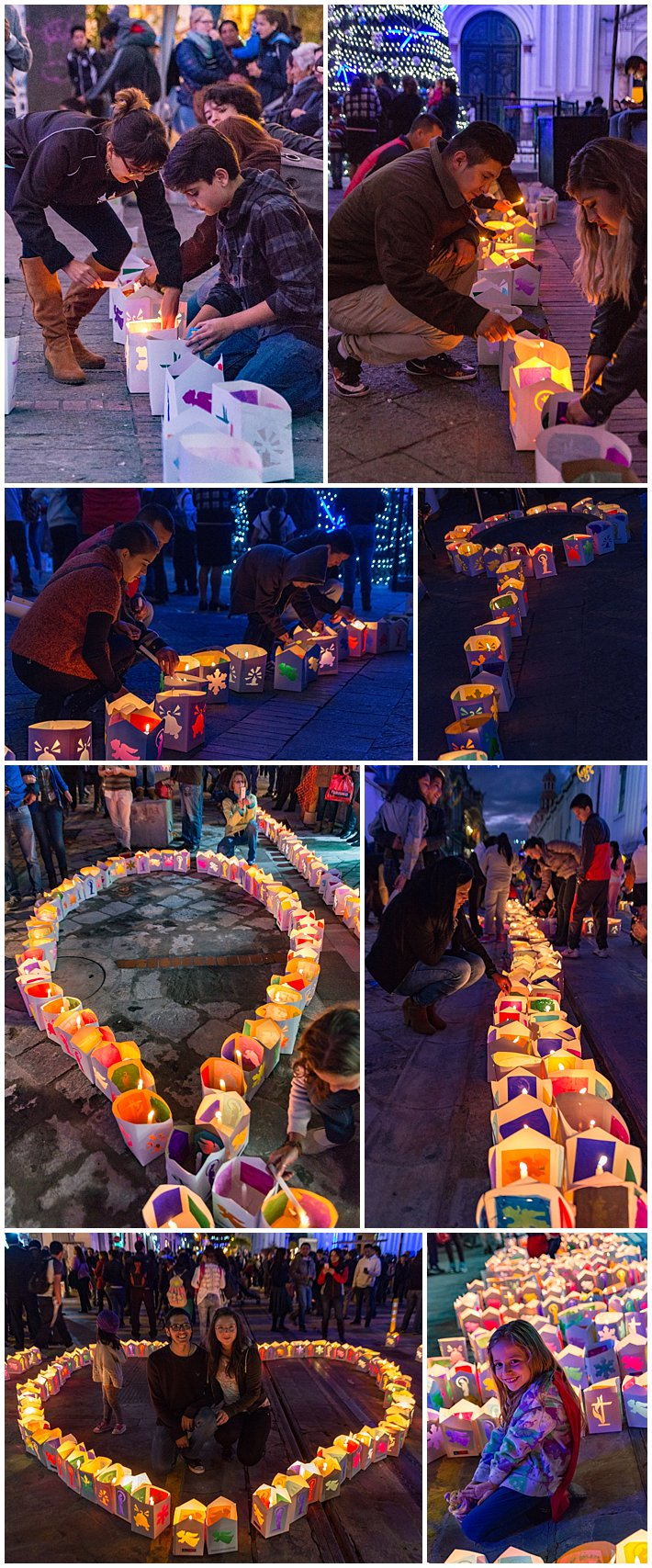 Festival of Lights 2016, Cuenca, Ecuador - candles lit