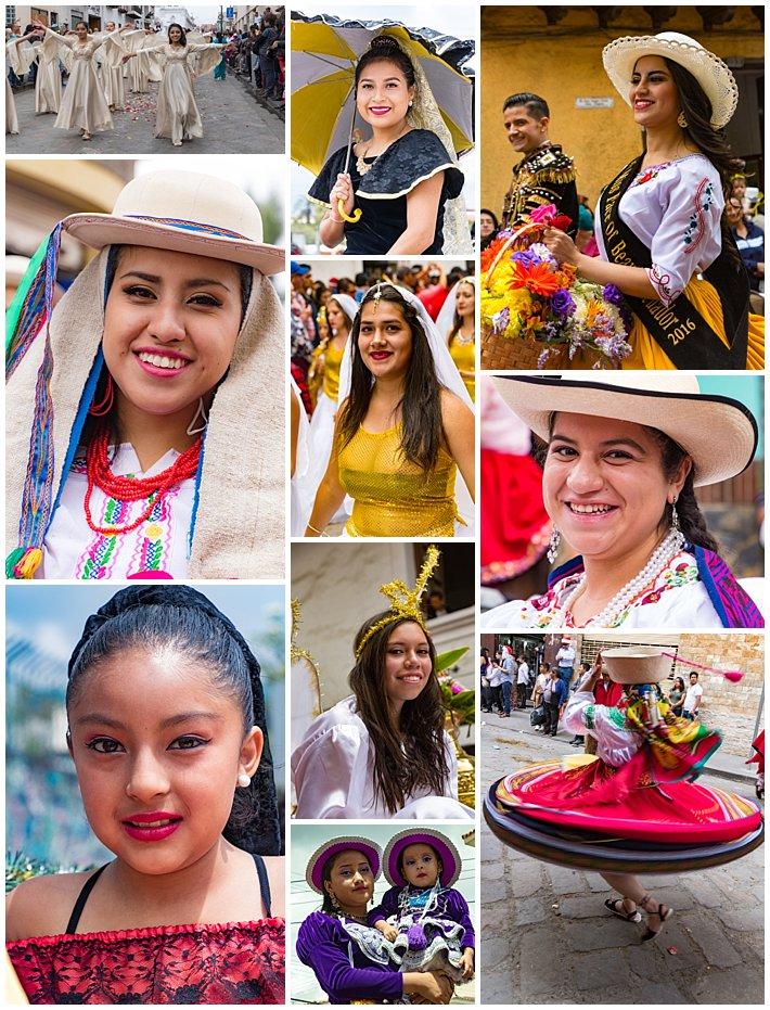 Pase de Niño 2016, Cuenca, Ecuador - women