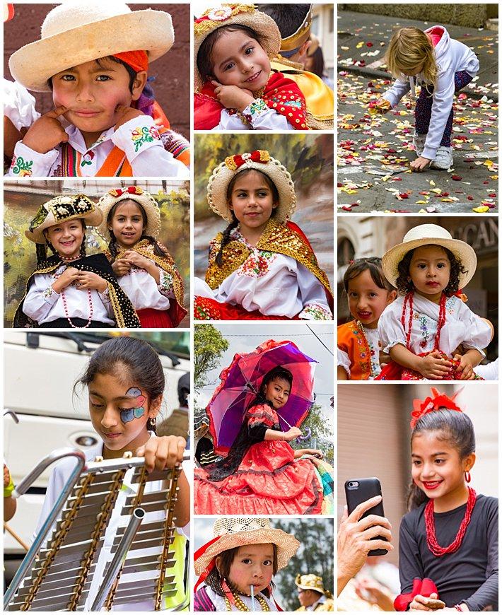Pase de Niño 2016, Cuenca, Ecuador - girls