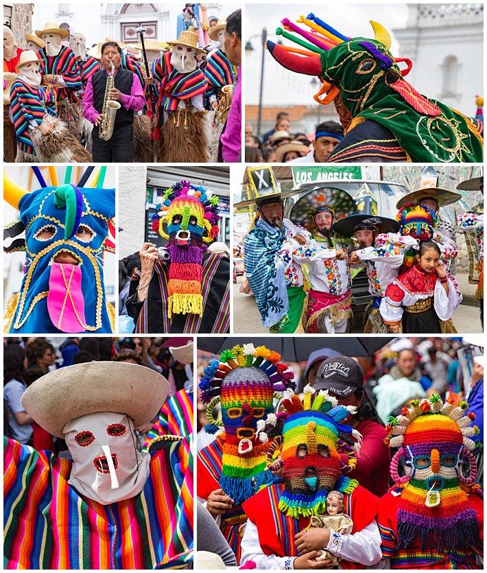 Pase de Niño 2016, Cuenca, Ecuador - masks