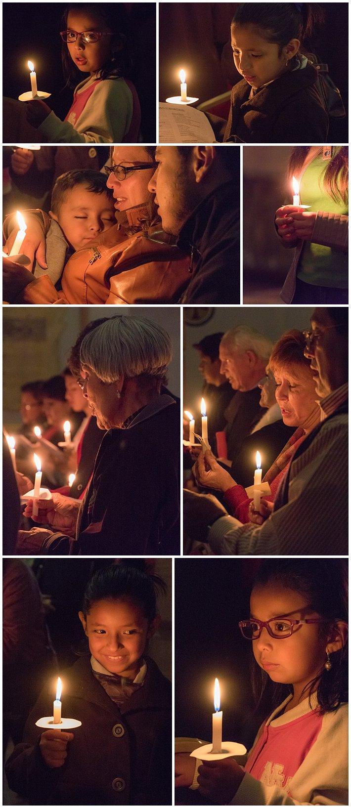 Christmas Chorale Candles in Cuenca, Ecuador Dec 21, 2016