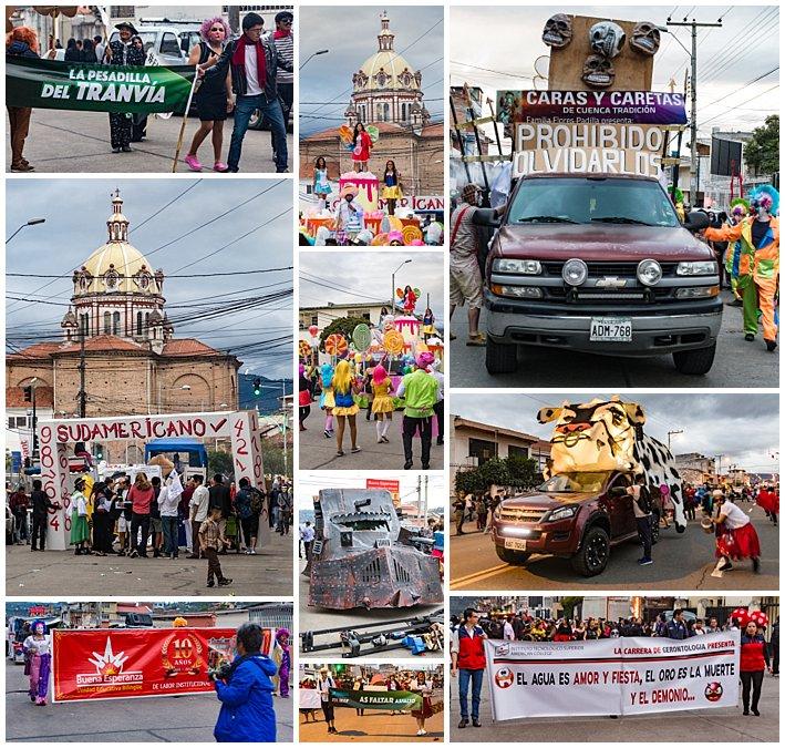 Fools Inocentes Parade 2017 - Cuenca, Ecuador - signs
